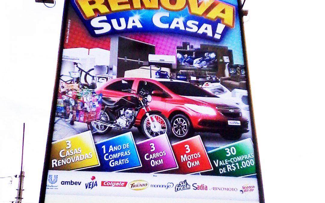Painel supermercado São Vicente